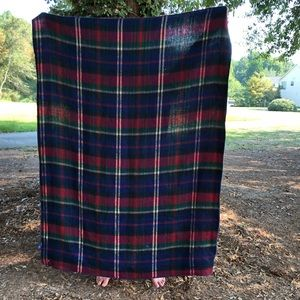 Ralph Lauren tartan plaid blanket throw